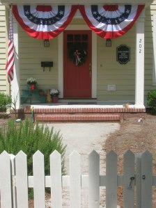4th of July picket fence