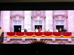 The Royal Family on the balcony after the April 29, 2011 wedding of William and Catherine