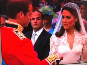 William and Kate at the alter