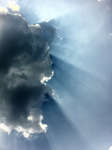 light rays coming through the clouds