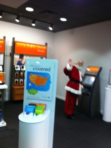 Even Santa has to pay his phone bill